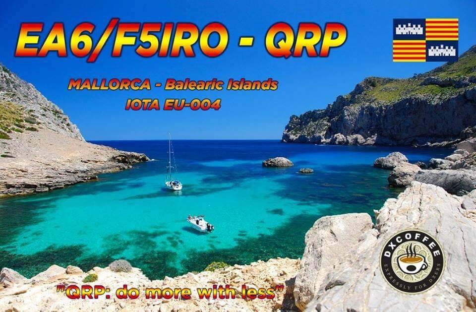 EA6/F5IRO Hamradio QSL Card
