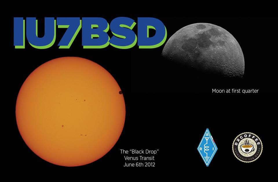 IU7BSD Hamradio QSL Card