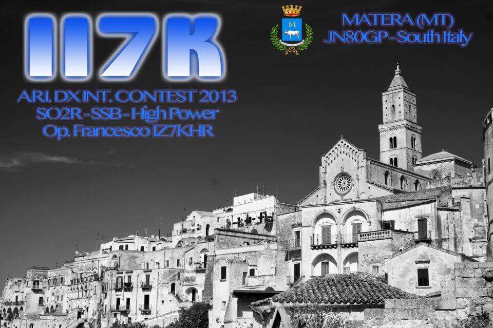 II7K Hamradio QSL Card