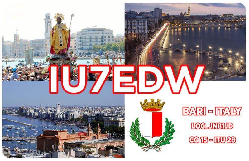 IU7EDW Hamradio QSL Card