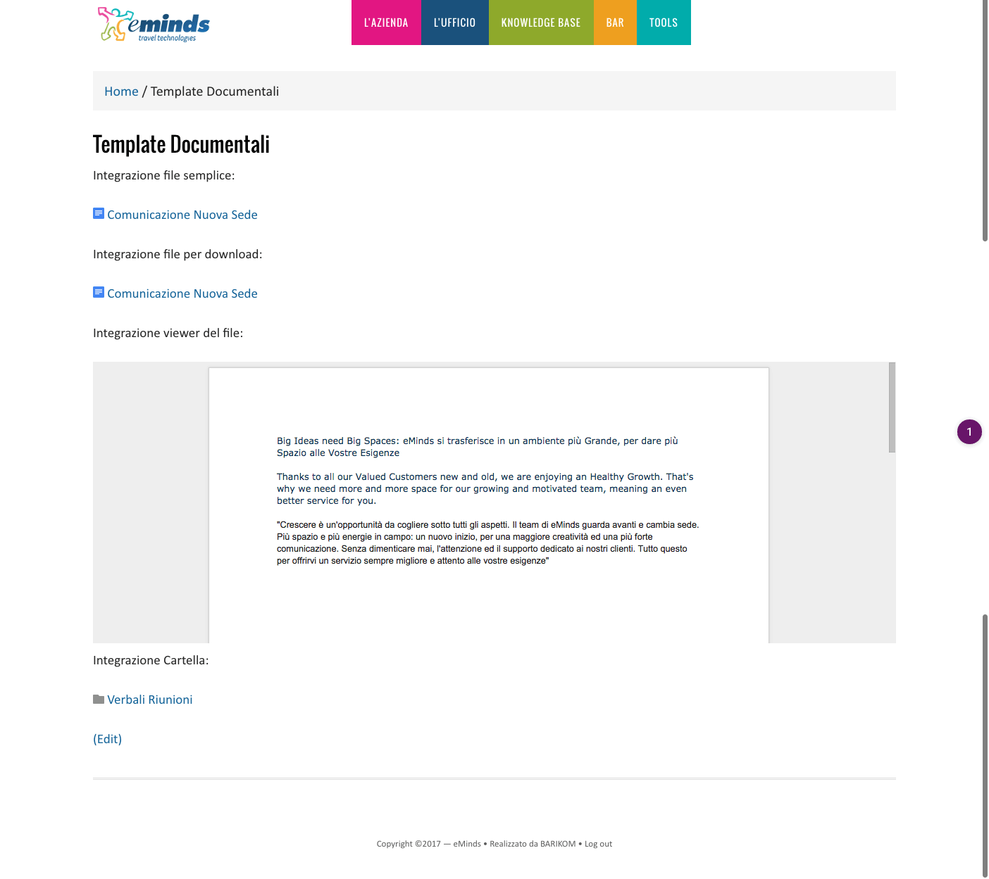 piattaforma intranet eminds